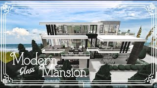 Bloxburg   Modern Glass Mansion   Speed Build   All Game Pass   808k