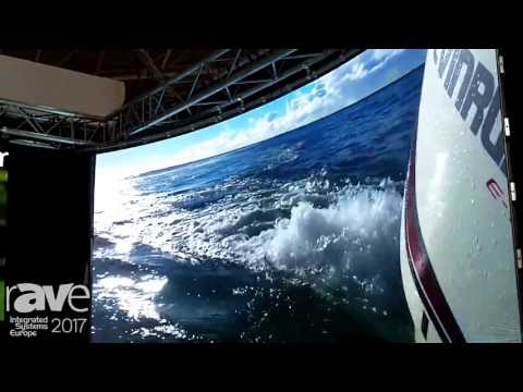ISE 2017: Glux LED Talks About TVSN 1.9mm Curved LED Display with Carbon Fiber