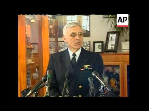 Admiral Richard Gurnon, president of the Massachusetts Maritime Academy reacts to the news that it's