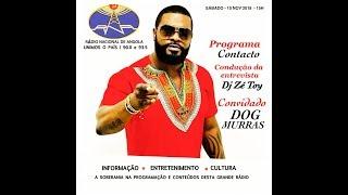 """Dog Murras com Z Toy no """"Contacto"""" da Rádio Nacional de Angola."""