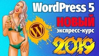 НОВЫЙ экспресс-курс ДЛЯ НОВИЧКОВ по WordPress 5 (2019г)