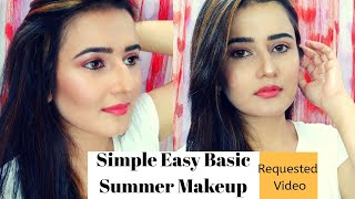 Simple Easy Basic Summer Makeup Look | Requested Video| SWATI BHAMBRA