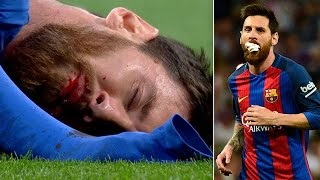 Lionel Messi Takes an ELBOW to the Face, Scores 500th Goal in El Clasico Match vs Real Madrid