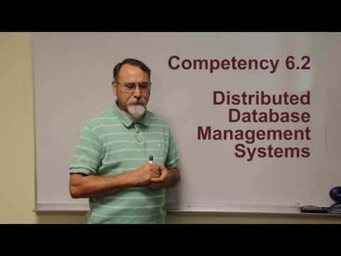 Competency 6.2 Distributed Database Management Systems ITSE 2309