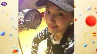 劉濤為《歡樂頌2》配音完畢 素顏出鏡皮膚紅潤