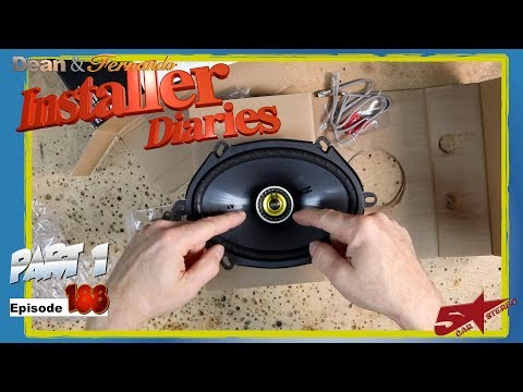We start on a Kicker speaker install in a Ford Fusion Installer Diaries 188 part 1