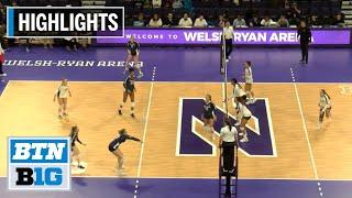 Highlights: Penn State at Northwestern | B1G Volleyball | Nov. 17, 2019