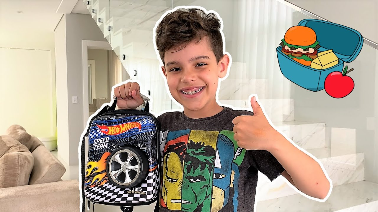 SUPER LANCHE do BENÍCIO para a ESCOLA - Família Amigo dos brinquedos