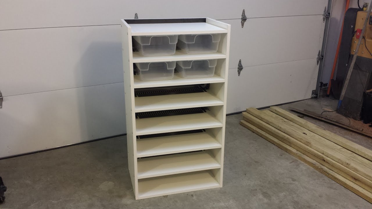 How To Build A Pvc Snake Rack Youtube Small Kitchen Sink Racking System Shop Shelving