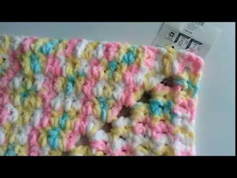 Crochet Pitter Patter Baby Blanket Tutorial: Bernat Baby Blanket Yarn