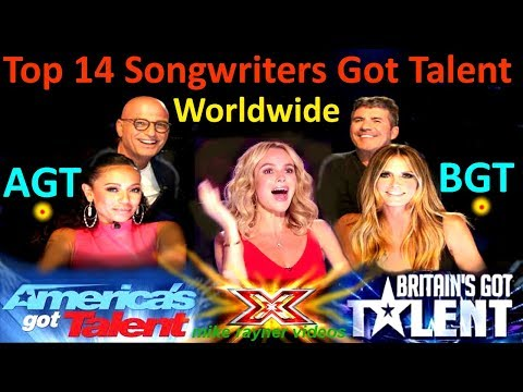 Top 14 Best Ever Singer Songwriters Got Talent Auditions, America's Britain's Amazing AGT BGT Kids