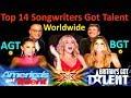 Top 14 Best Singer Songwriters Got Talent Auditions  Amazing Worldwide Got Talent Singers  AGT   BGT MP3