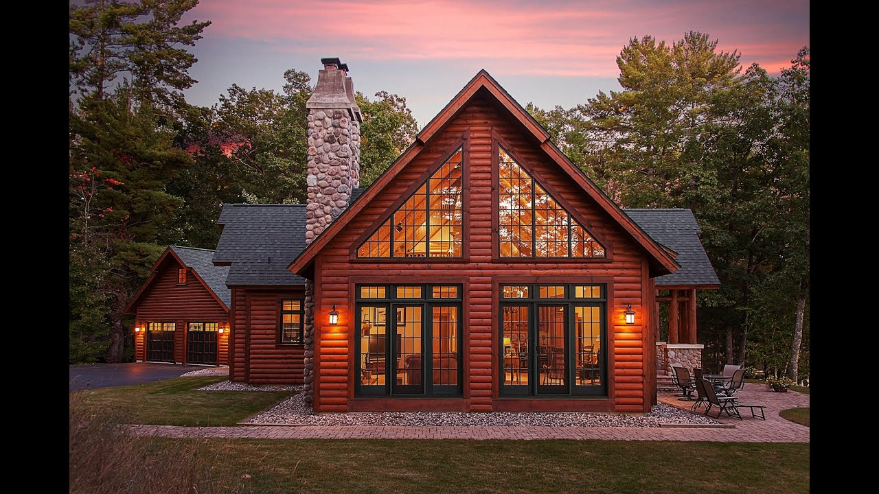 Hybrid Log Lake Home By Dickinson Homes Youtube