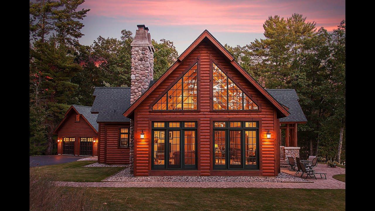 Hybrid Log Lake Home by Dickinson Homes  YouTube