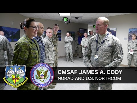 Chief Master Sergeant of the U.S. Air Force visits NORAD & USNORTHCOM