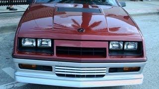 1984 Dodge Daytona Turbo Z MaroonSlvr NSmyr052212