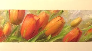 Тюльпаны в интерьер.  Живопись маслом.  Tulips for Bob's House.  Как рисовать цветы