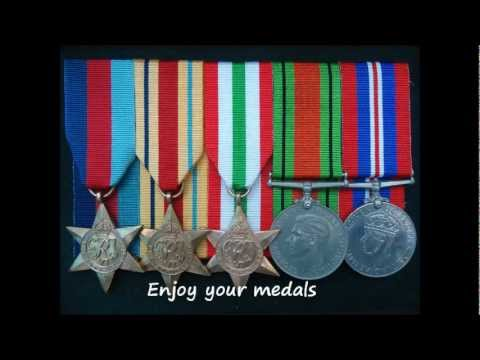 How to court mount Military medals