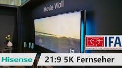 Hisense zeigt 21:9 5K Fernseher Prototyp auf der IFA 2019