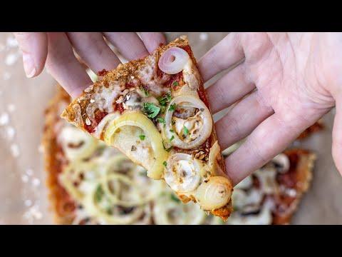 ???? Vegane Haferflocken Pizza ohne Hefe
