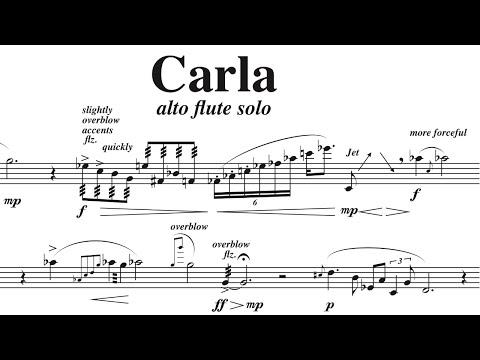 Carla- for alto flute solo, by David Bennett Thomas