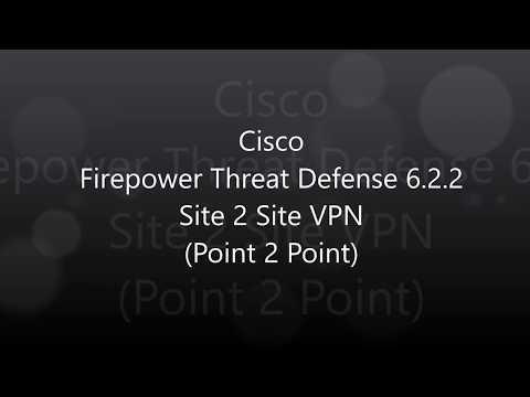 15  Cisco Firepower Threat Defense 6 2 2: Site 2 Site VPN (Point to Point)