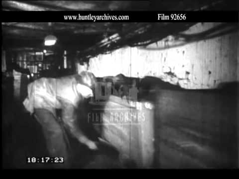 Conveyor in coal mining.  Archive film 92656