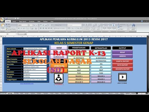 GRATIS, APLIKASI RAPORT K13 SD REVISI 2018 / 2019