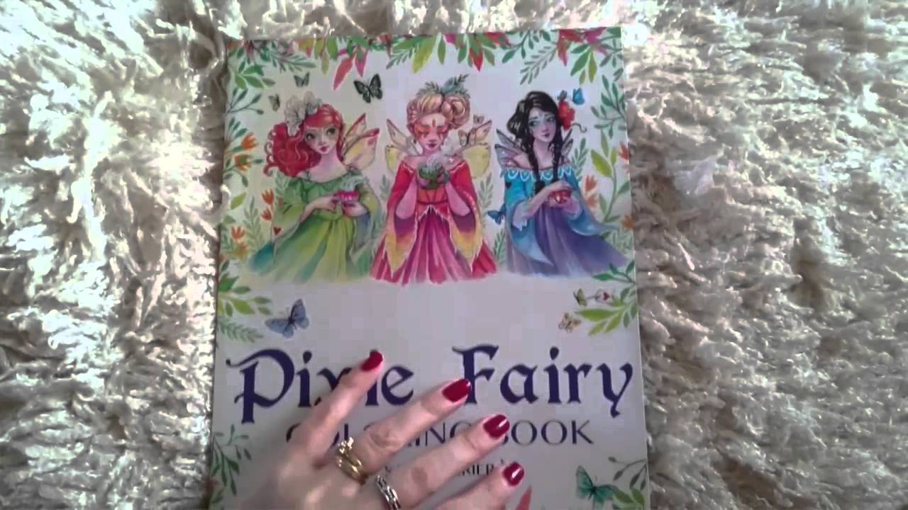 Pixie fairy coloring book\