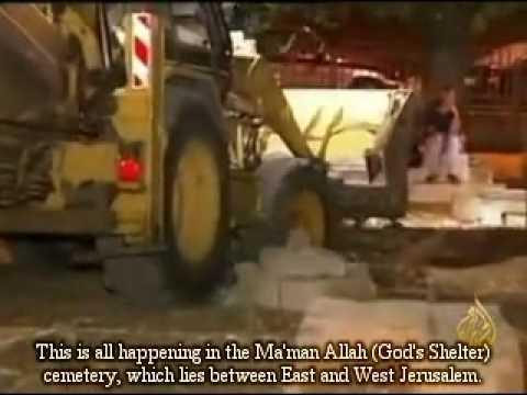 israel bulldozes ancient muslim cemetery in jerusalem
