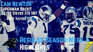 Cam newton week 4 regular season highlights superman | 10/01/2017