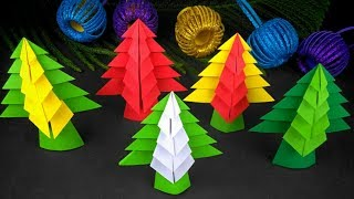 3D Paper Christmas Tree | How To Make A 3D Paper Xmas Tree DIY | Christmas Decorations Ideas