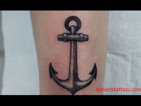 Bebeto Tattoo Studio  &226ncora Tatuagem Hachura Black Work Anchor