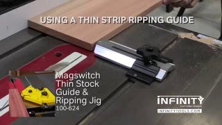 infinity cutting tools how to rip thin strips on the table saw