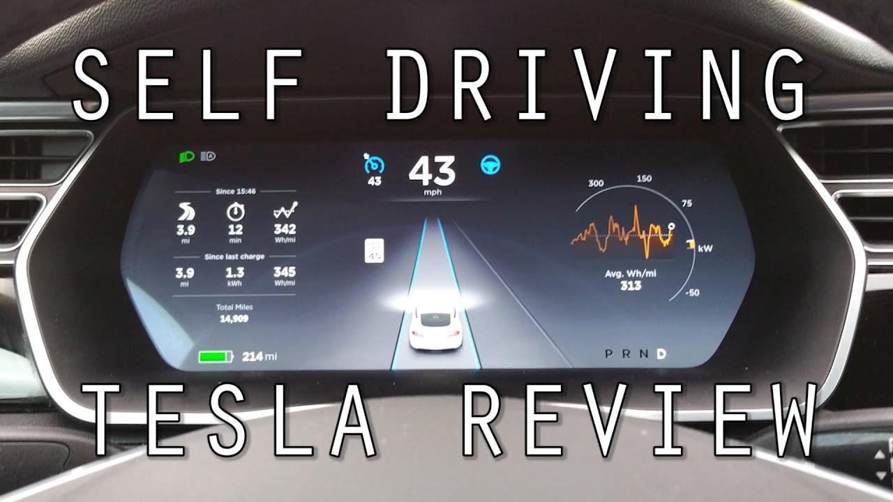 self driving tesla review youtube. Black Bedroom Furniture Sets. Home Design Ideas
