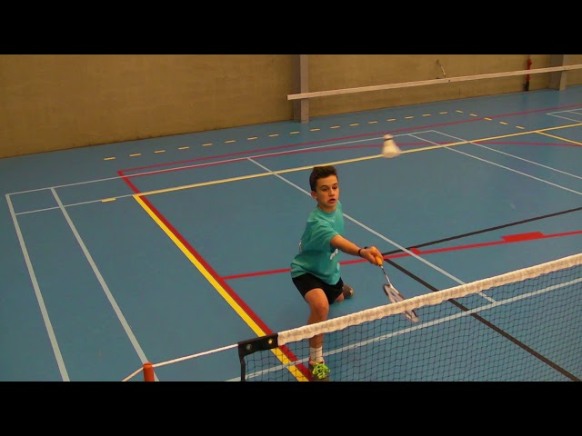 3.5.2 Footwork anticipatie FH netdrop