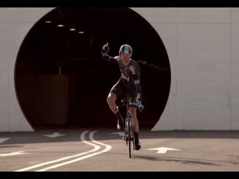 Channel Tunnel First Ever Cycle Thru Chris Froome - Tour De France 2014 Video CARJAM TV EuroTunnel