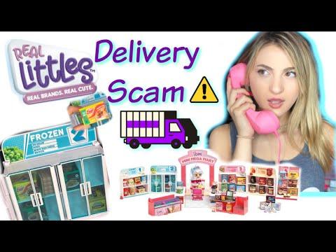 Scam Delivery of Shopkins Real Littles Mini Mega Mart Skit