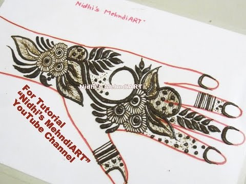 Latest Gulf Style Henna Mehndi Design Tutorial For Back Hand Youtube
