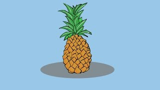 How To Draw Pineapple  | Drawing and coloring step by step | coloring pages for kids | kids colors