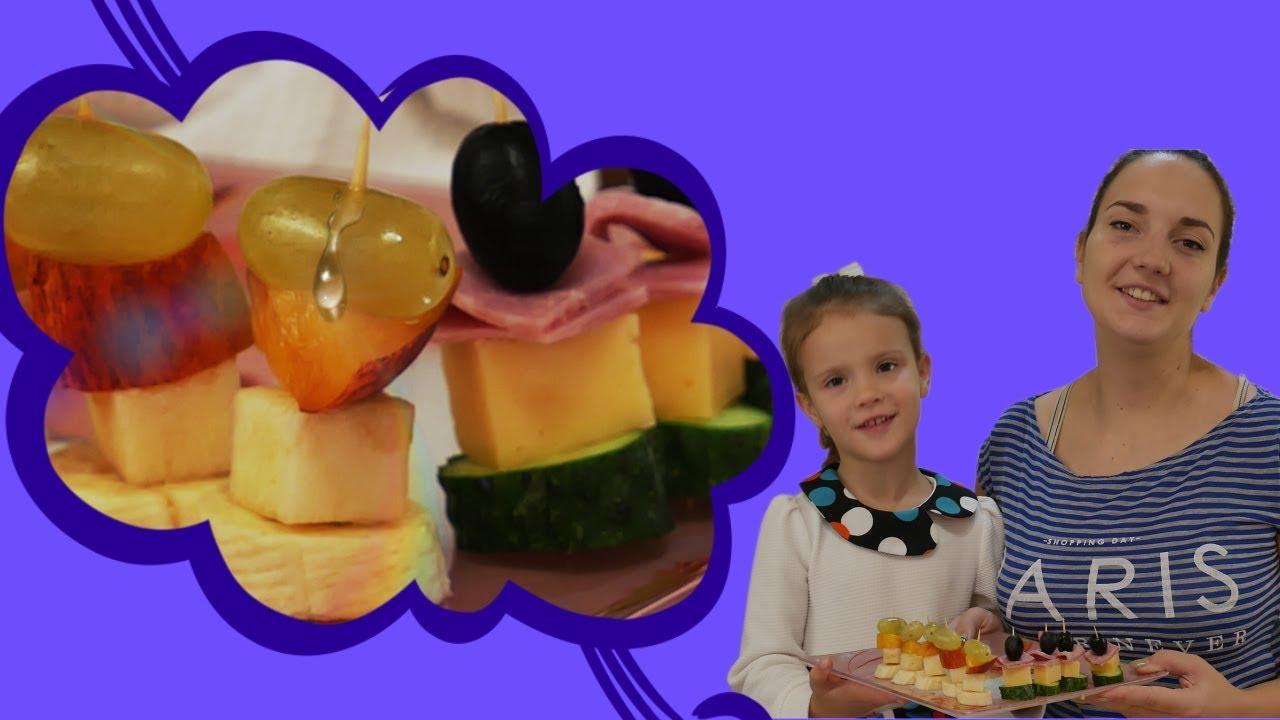 Простые рецепты с Китти: Канапе для детей | Волшебница Китти