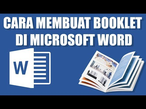 Cara Membuat Booklet Di Microsoft Word