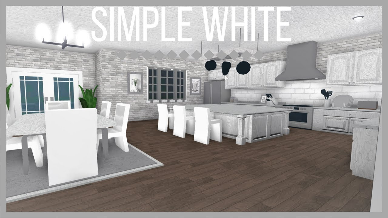 Roblox Welcome To Bloxburg Simple White Kitchen