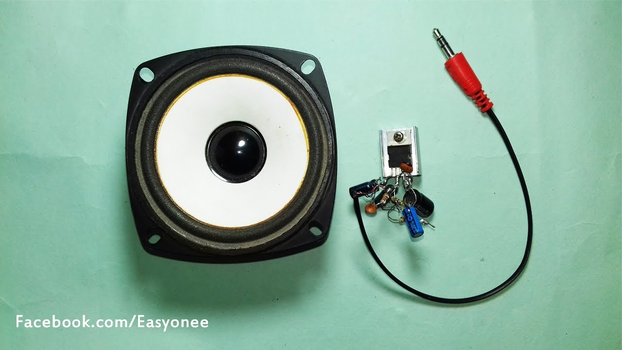 How To Make A Mini Simple Audio Amplifier TDA2003 Without
