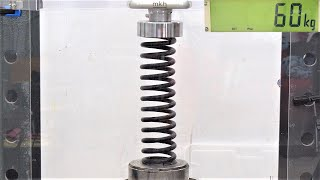 How Strong Are Car Springs? Hydraulic Press Test! Don't Try This at Home!