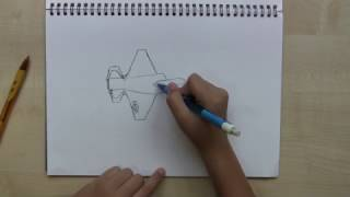 How to draw an F-22 Raptor