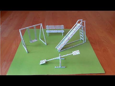 Kağıttan Minyatür Oyun Parkı / Paper Miniature Playpen