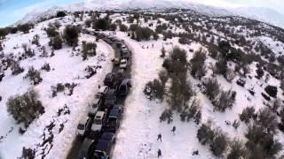 Crete Απίστευτο μποτιλιάρισμα Χιόνια Ψηλορείτης Anogeia incredible traffic jam Psiloritis 2015