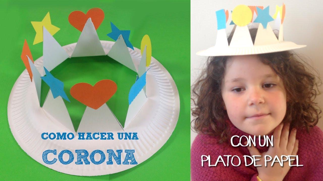 Manualidad El Rey Salomon: Corona Con Plato De Papel - YouTube
