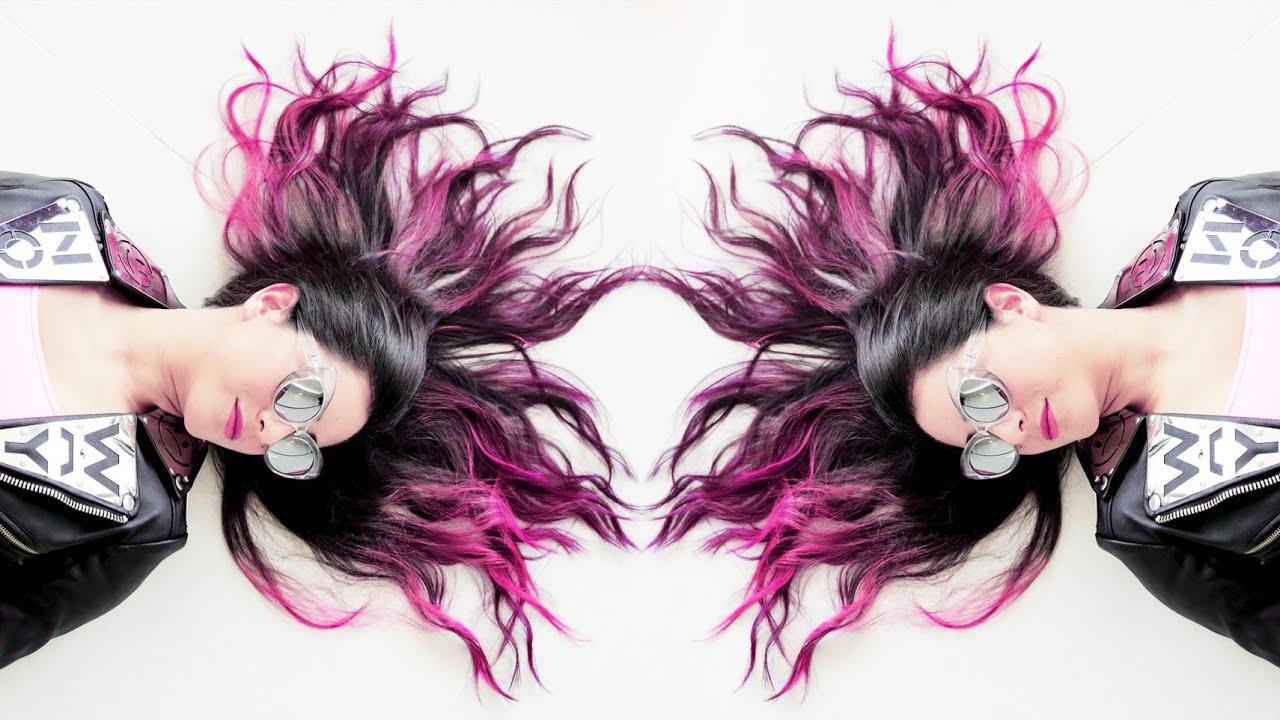 Hot Pink Ombre Manic Panic Hair Dye Tutorial Diy Youtube